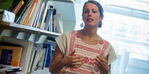 Salish speaker explaining about the importance of language training